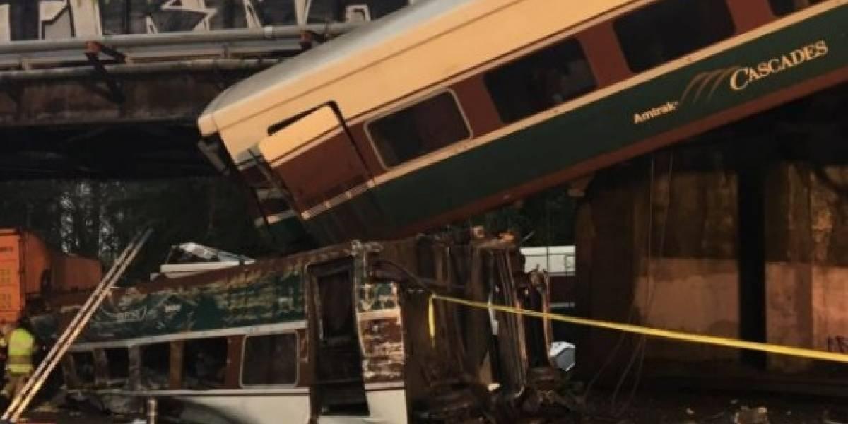 Se descarrila tren en Washington
