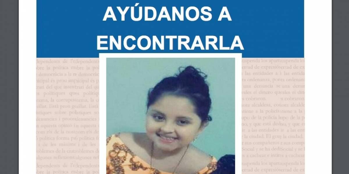 Reportan a Emilia Benavides, menor de 10 años, como desaparecida