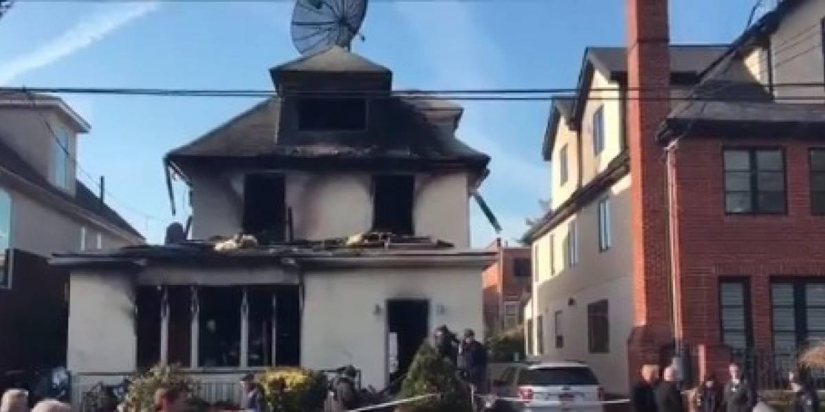 Mueren cuatro personas por incendio en una casa de Nueva York