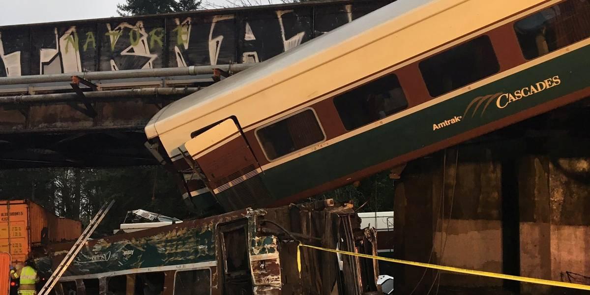 Trem que descarrilou nos EUA circulava muito acima da velocidade permitida
