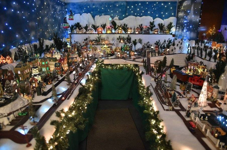Villa navideña miniatura