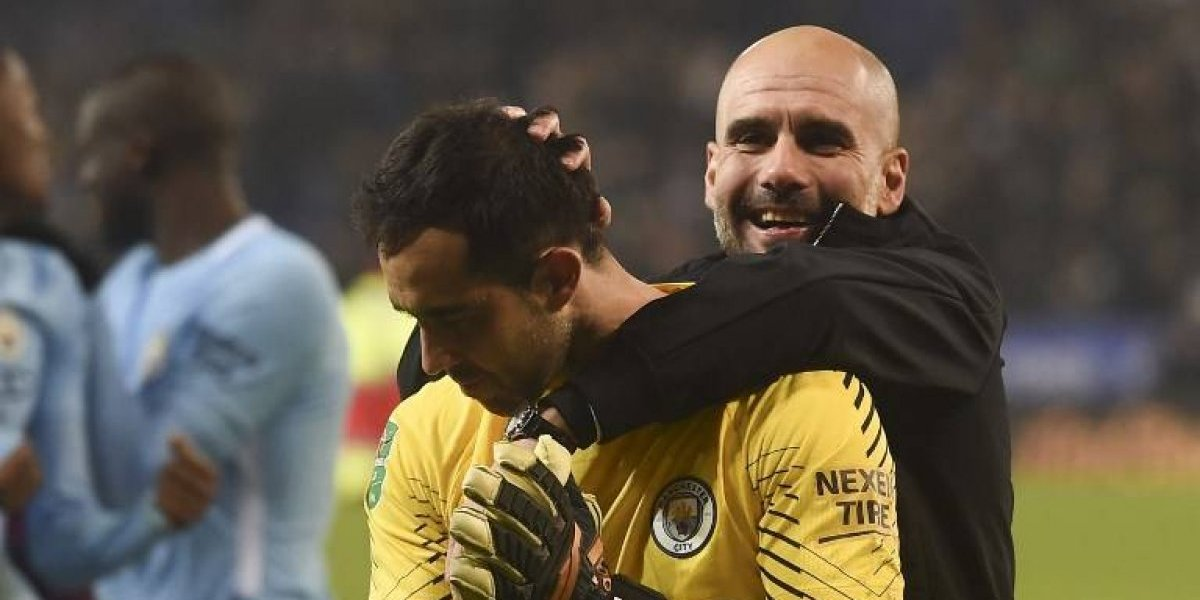 """Guardiola se rindió ante Bravo: """"Nos ayudó otra vez"""""""