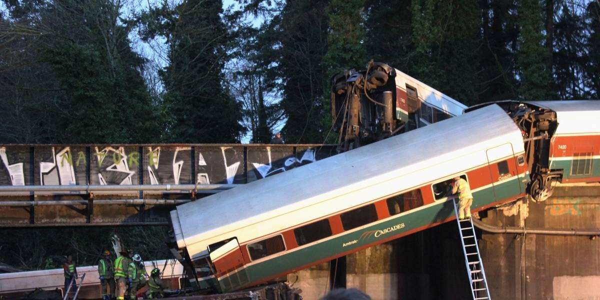 Revelan posible causa del descarrilamiento de tren en Washington