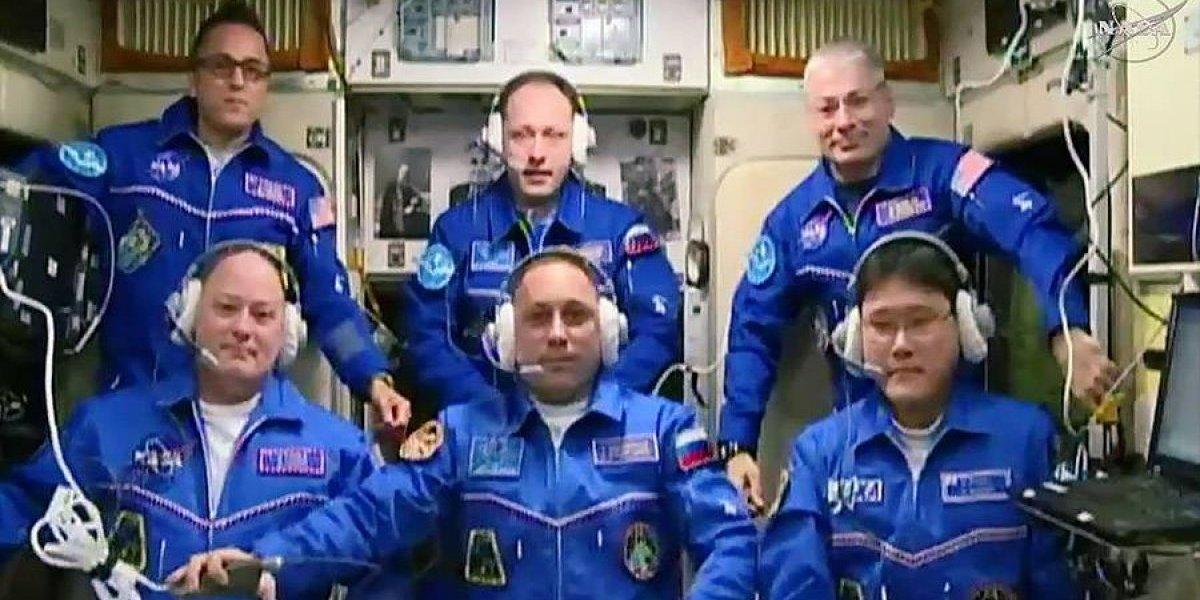 Tres astronautas llegan a Estación Espacial Internacional