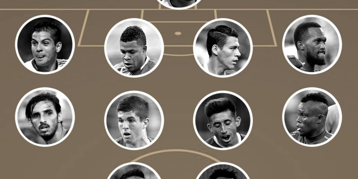 Sólo figuran tres mexicanos en el 11 ideal de la Concacaf