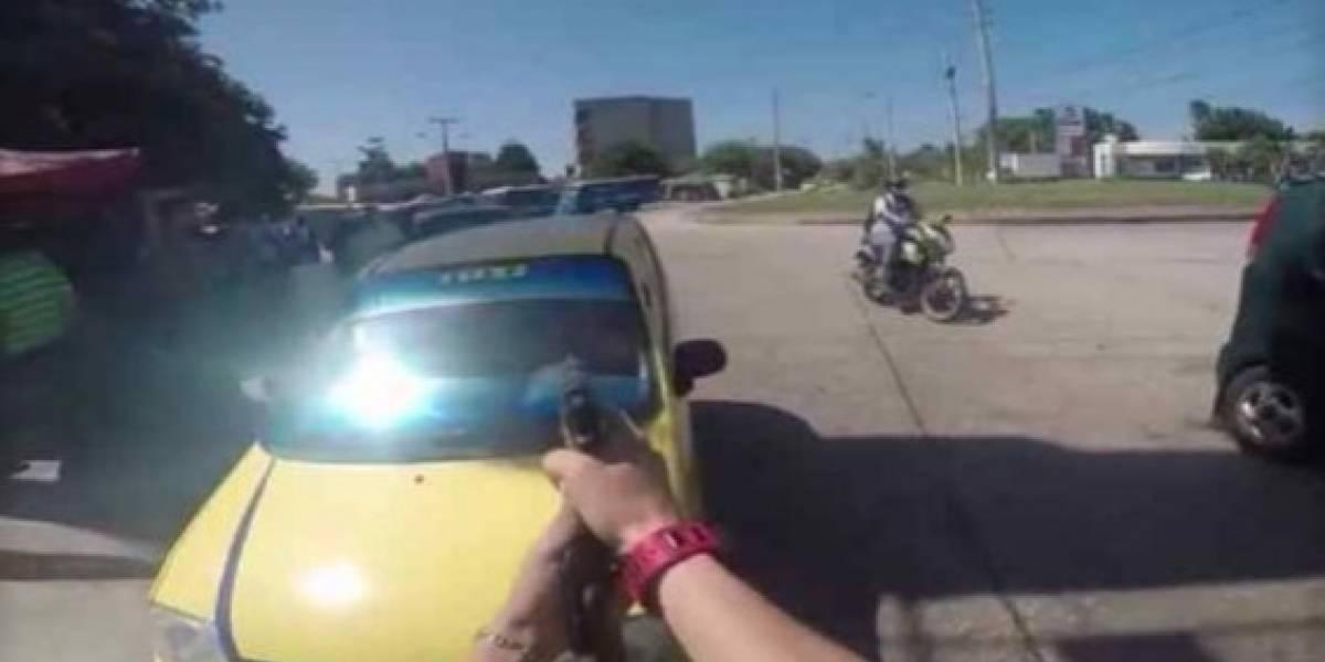 Video: Impresionante persecución de la Sijín contra un fletero