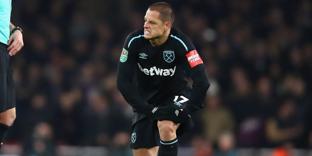 'Chicharito' volvió a la titularidad en la eliminación del West Ham