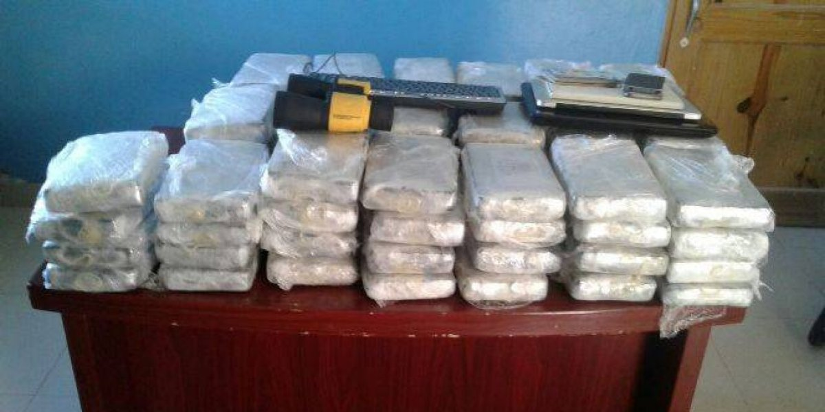 Decomisan 76 paquetes de cocaína en Pedernales