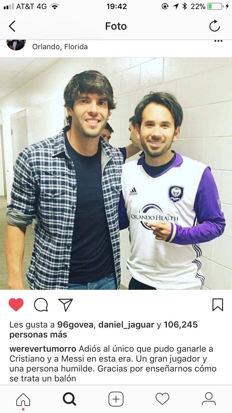 Werevertumorro con Kaká