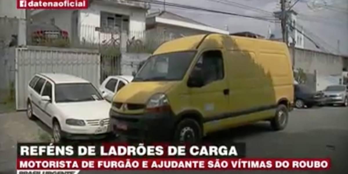 Motorista e ajudante são feitos de reféns na Grande São Paulo