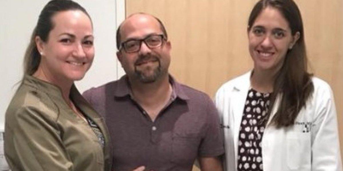 Esposo de Deborah Martorell termina tratamientos contra el cáncer