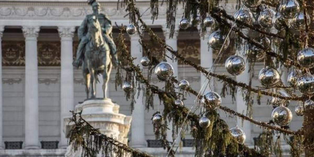"""""""Digno de una república bananera"""": el polémico y costoso árbol de Navidad que parece cepillo para limpiar el baño"""