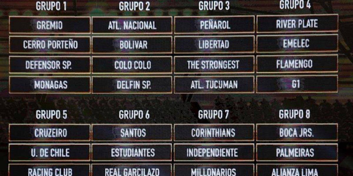 Colo Colo y la U vivieron las dos caras de la moneda en el sorteo de la Libertadores