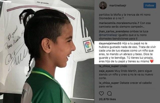 Captura de pantalla Instagram Martín Elías Jr.