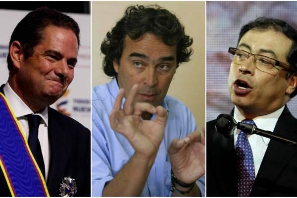 Vargas, Fajardo y Petro.