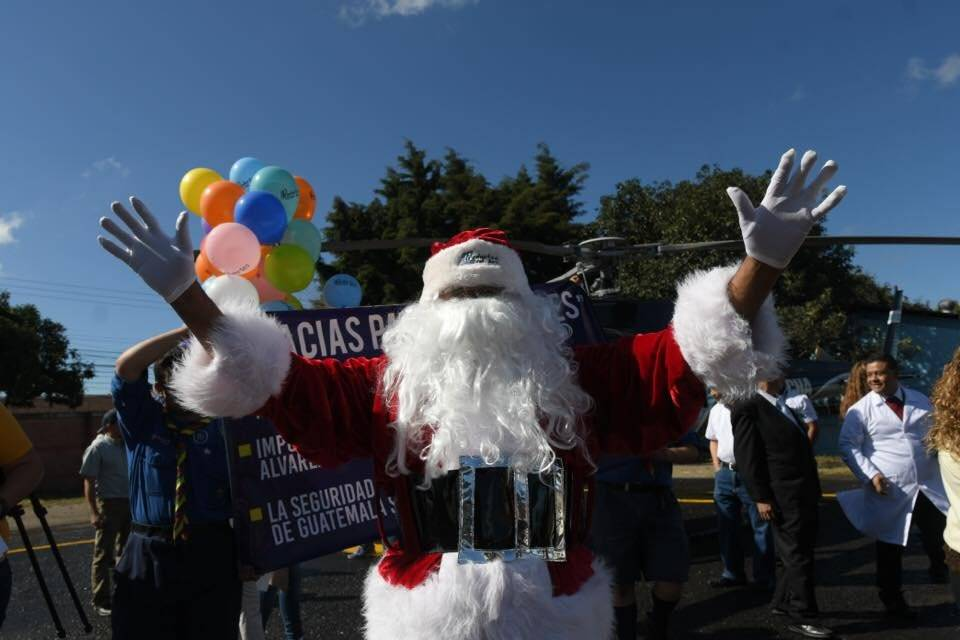 Santa Claus en el hospital general San Juan de Dios