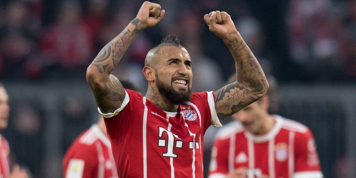 Arturo Vidal celebra su presencia en el equipo ideal de la Bundesliga