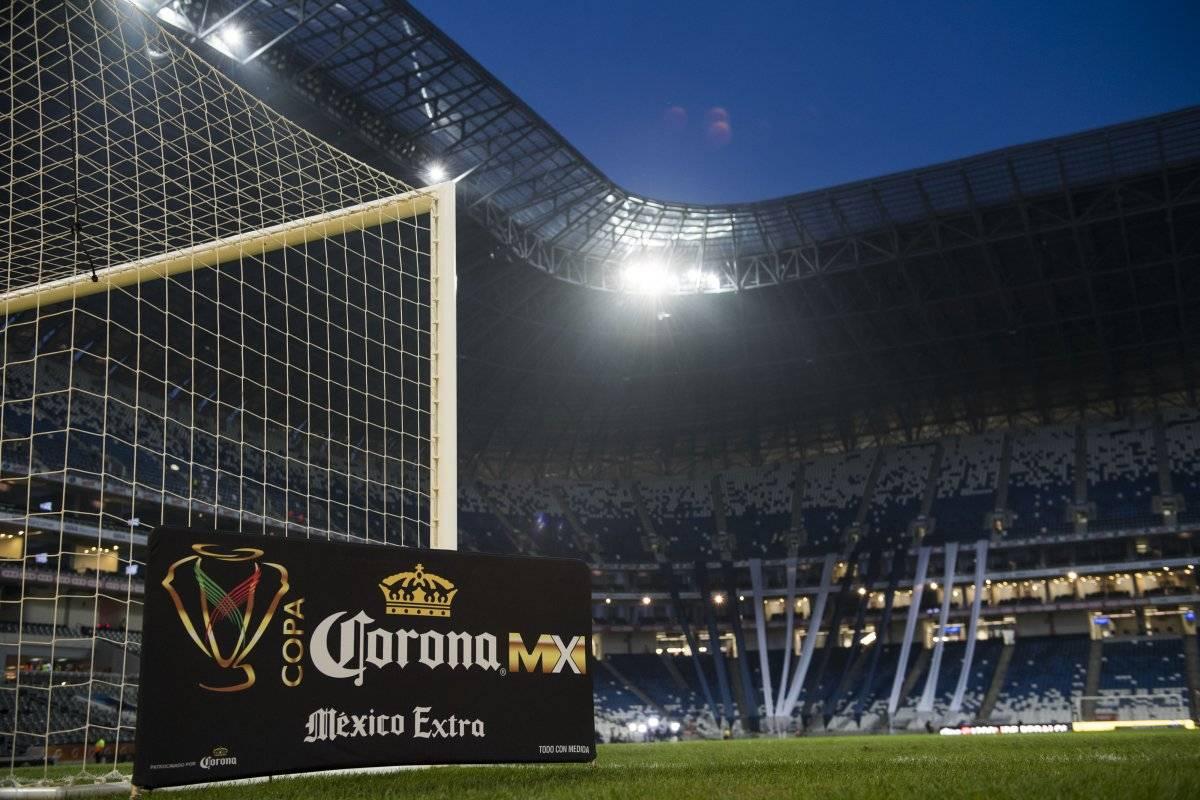 La cancha del Estadio BBVA Bancomer se encuentra lista