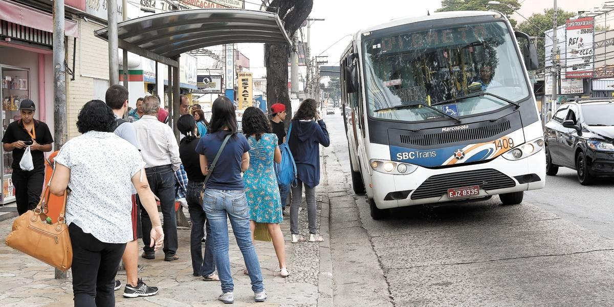 Uso de ônibus é o menor dos últimos 5 anos no ABC