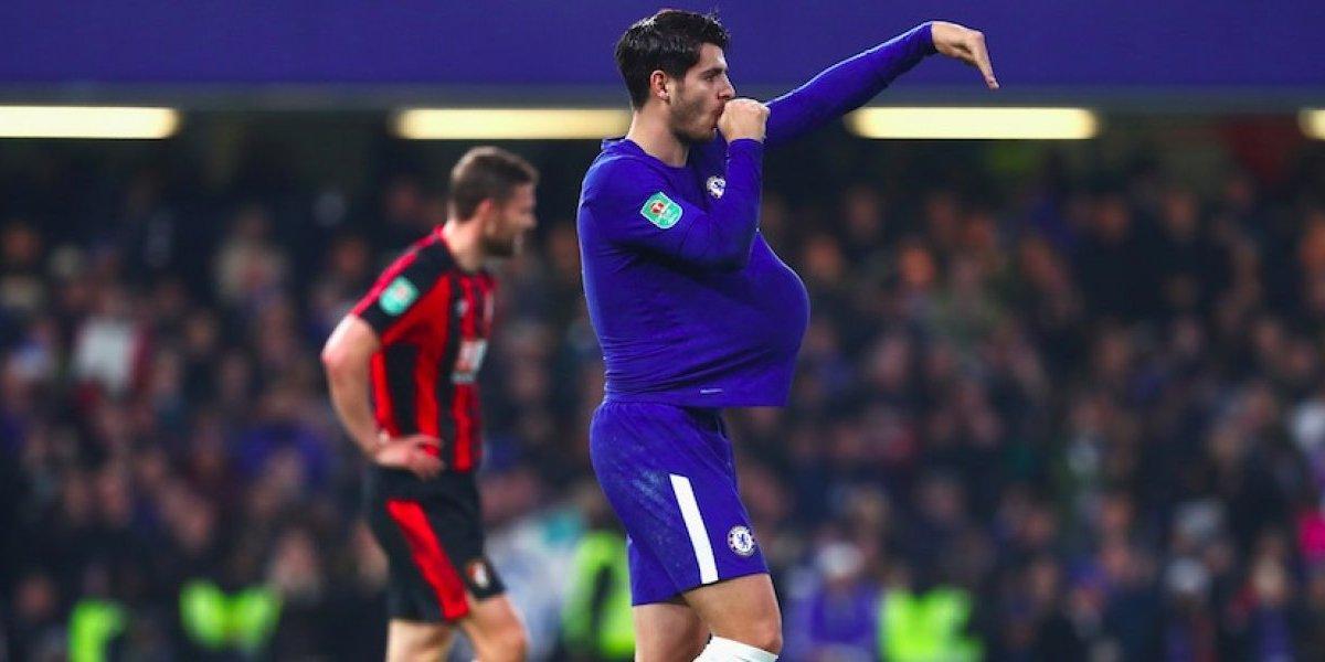 Suspenden a Álvaro Morata por dedicarle gol a su esposa embarazada
