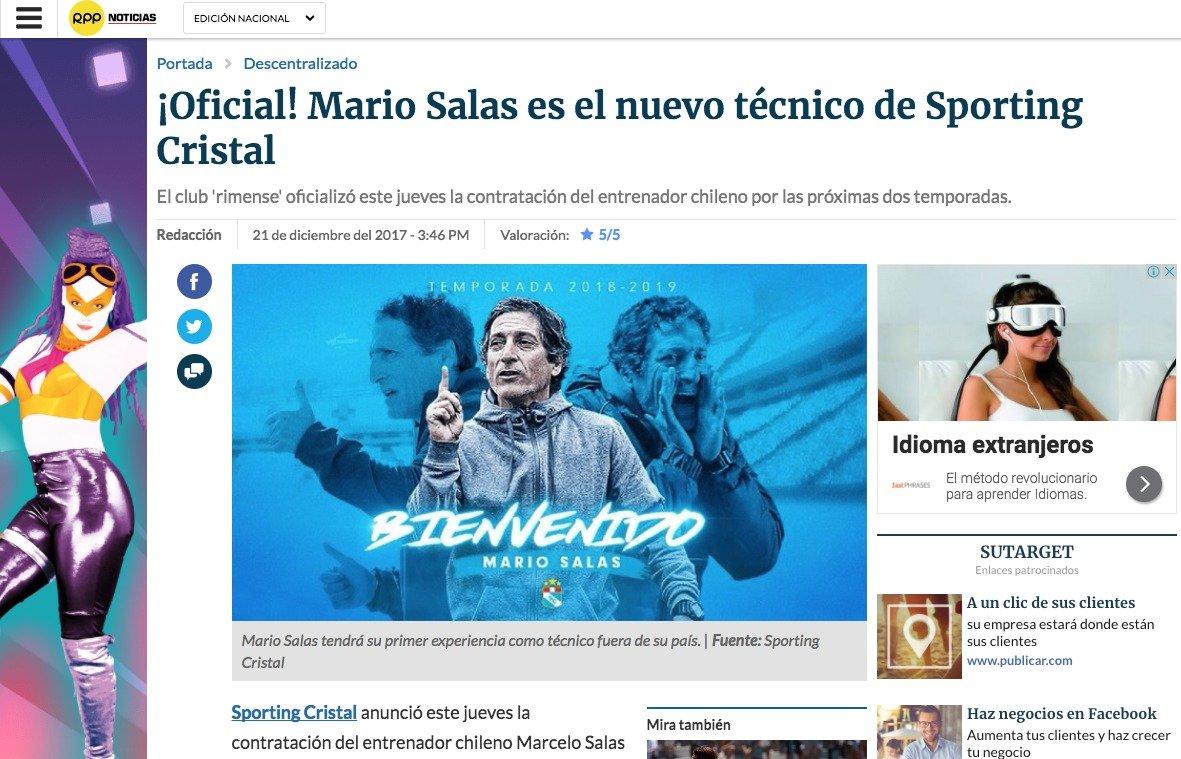 No pues, es Mario, no Marcelo. RPP