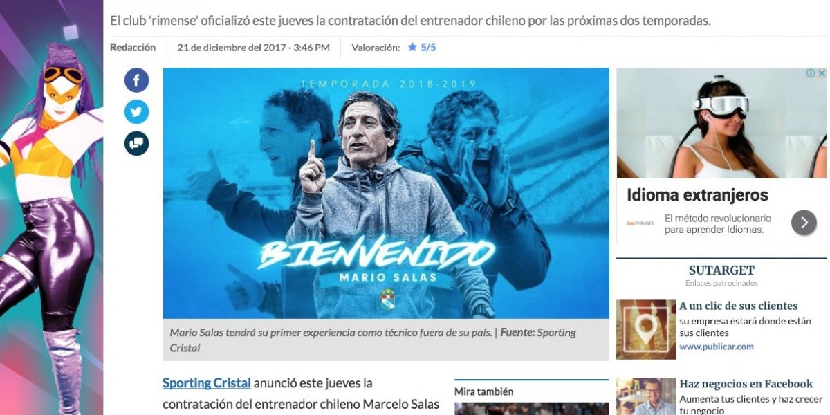 ¿Comandante o Matador? en Perú se confundieron de Salas para presentar a Mario en Cristal