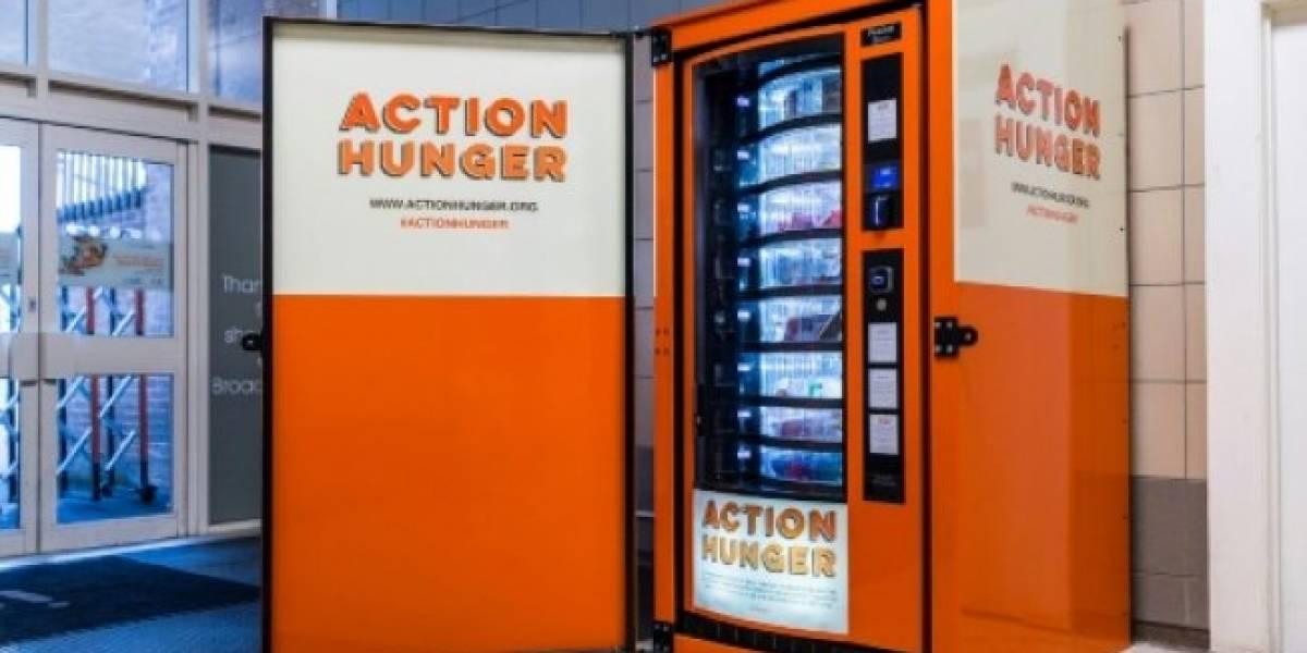 """""""Acceso a comida, ropa y productos esenciales"""" : Reino Unido estrena máquina dispensadora para los """"sin hogar"""""""