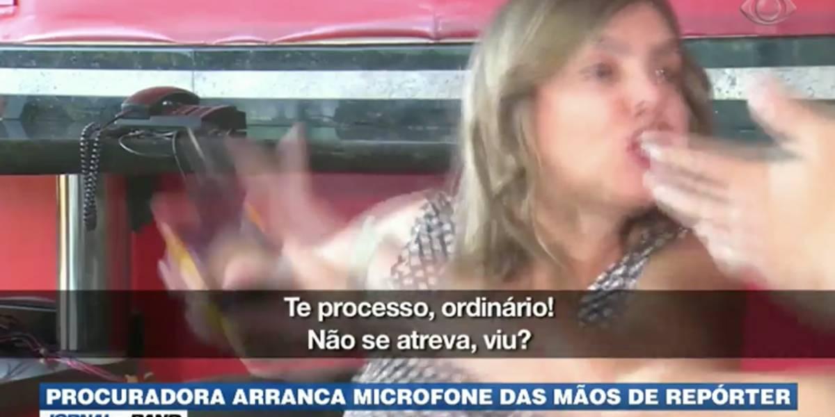 Repórter da Band sofre ameaça de agressão de procuradora em Uberlândia