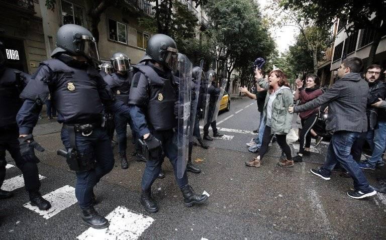 Represión policial en Cataluña