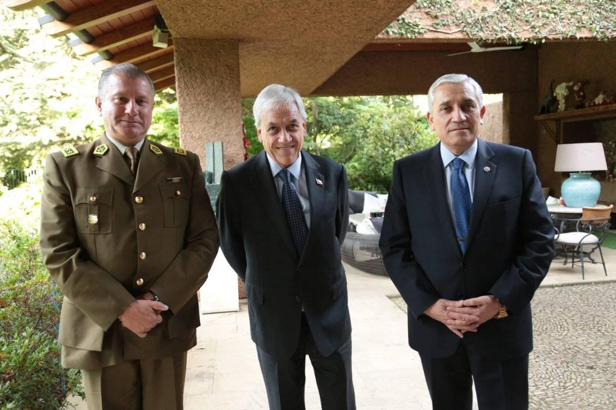 El Presidente electo recibió al general director de Carabineros, Bruno Villalobos y el director general de la PDI, Héctor Espinosa, en reuniones separadas. gentileza
