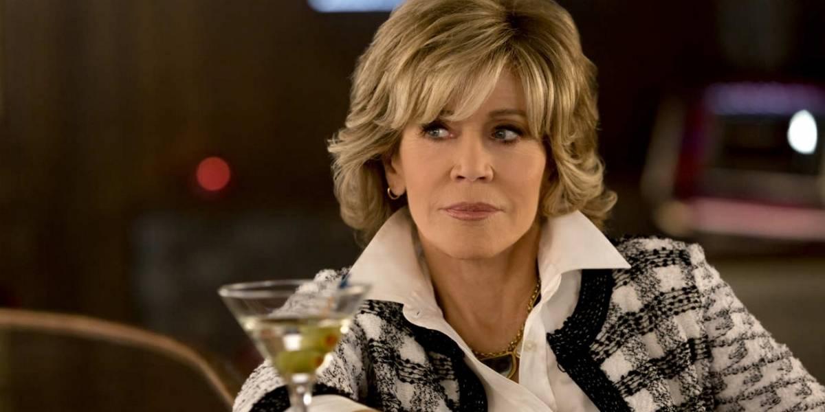 Jane Fonda chega aos 80 anos saboreando o sucesso em Grace and Frankie