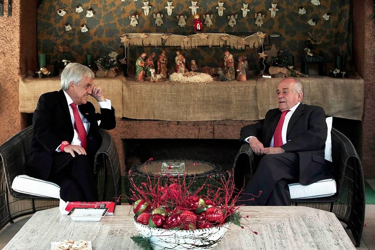 El Mandatario se reunió con el presidente del Senado, Andrés Zaldívar. gentileza