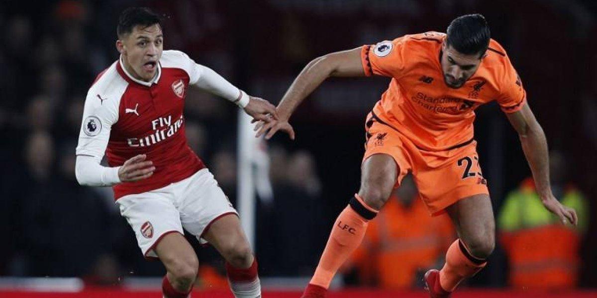 El gol de Alexis no le sirvió al Arsenal que empató en un partidazo ante Liverpool