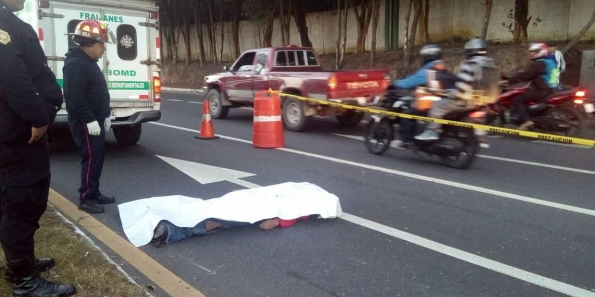 Hombre muere tras ser atropellado en ruta a El Salvador