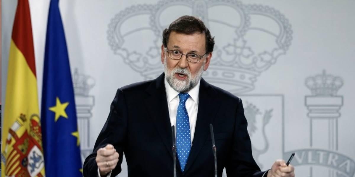 Rajoy rechaza reunirse con el cesado presidente catalán Puigdemont