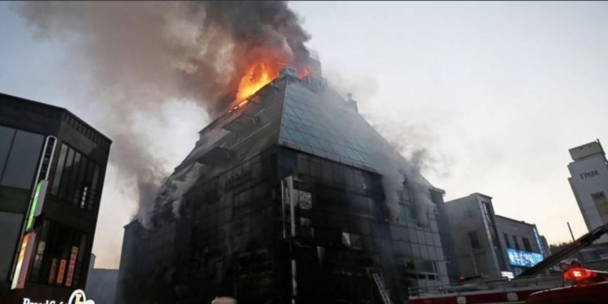 Las estremecedoras imágenes del incendio que dejó unos 29 muertos en Corea del Sur