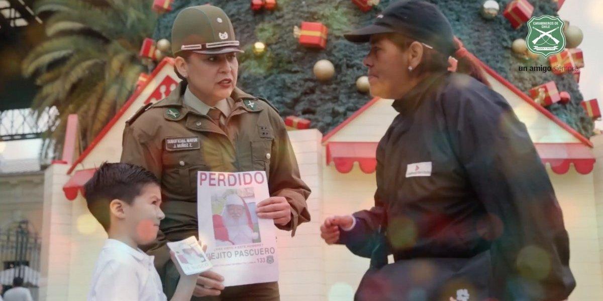Carabineros lanza tierno video para saludar a los chilenos en Navidad