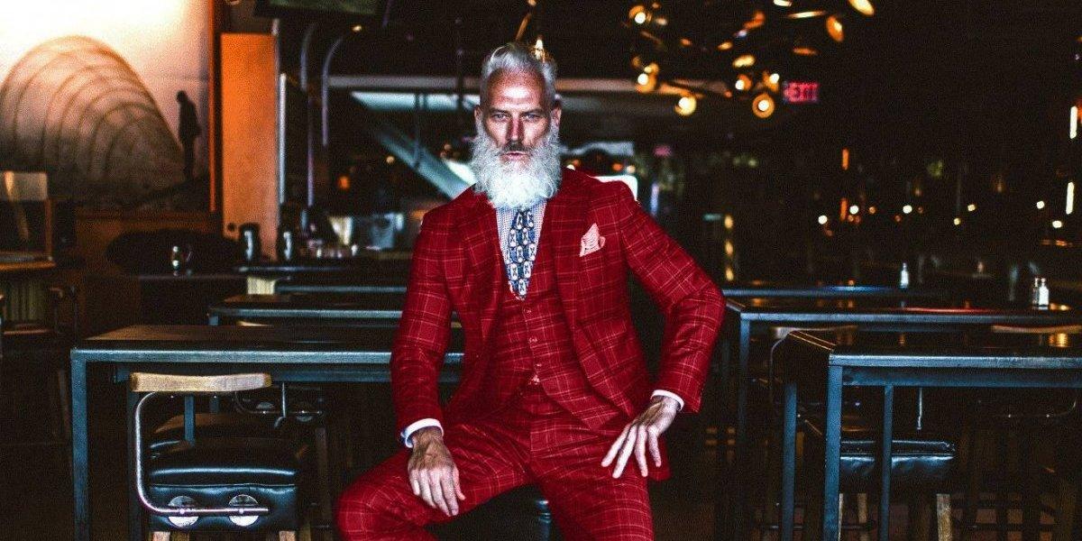 El modelo canadiense que reinventó a Santa Claus con su Fashion Santa