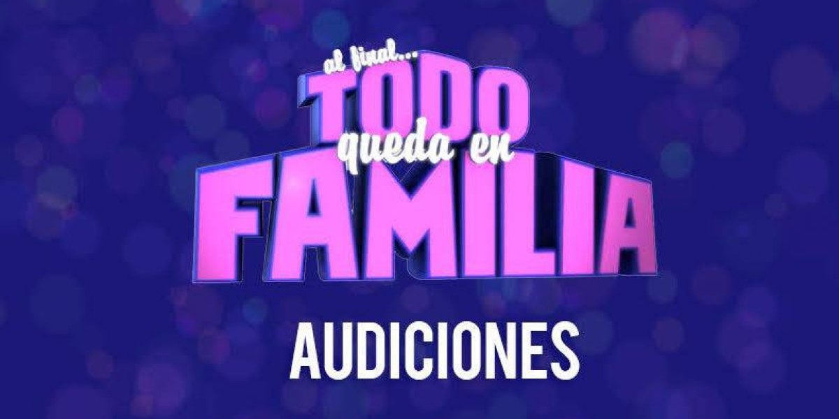 Buscan familias entretenidas para programa de concursos