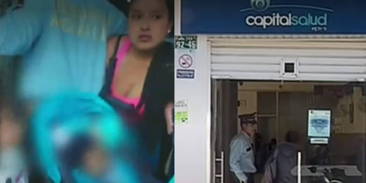 Mujer denuncia que no la dejaron entrar con su bebé a EPS por llevar coche