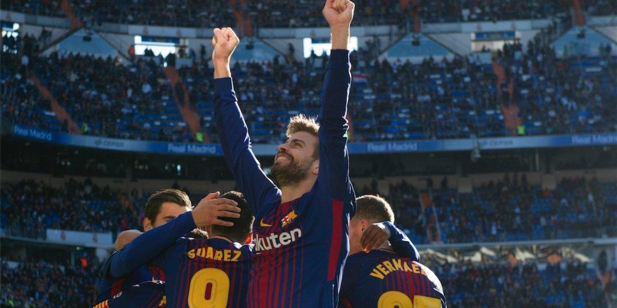 Gerard Piqué reacciona en Twitter tras derrotar al Real Madrid en el Clásico