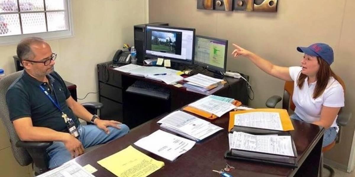 Alcaldesa de Morovis revisa trabajos de la AEE en su pueblo
