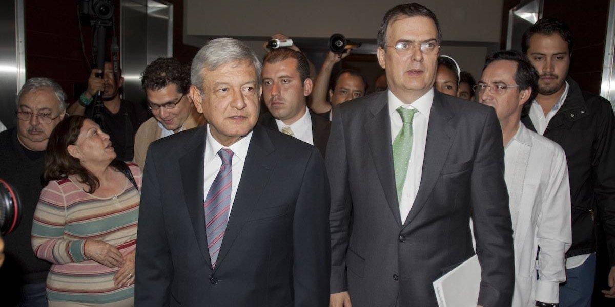 Ebrard no busca un cargo, sólo cuidará del voto de Morena: AMLO
