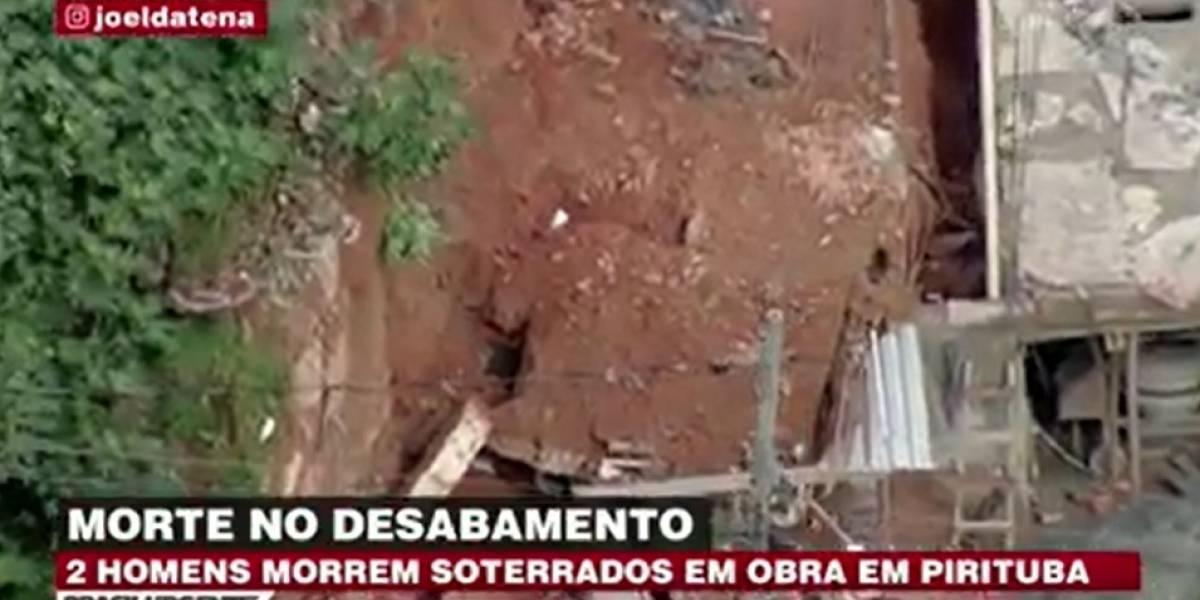 Obra desaba e dois homens morrem soterrados na zona norte de São Paulo