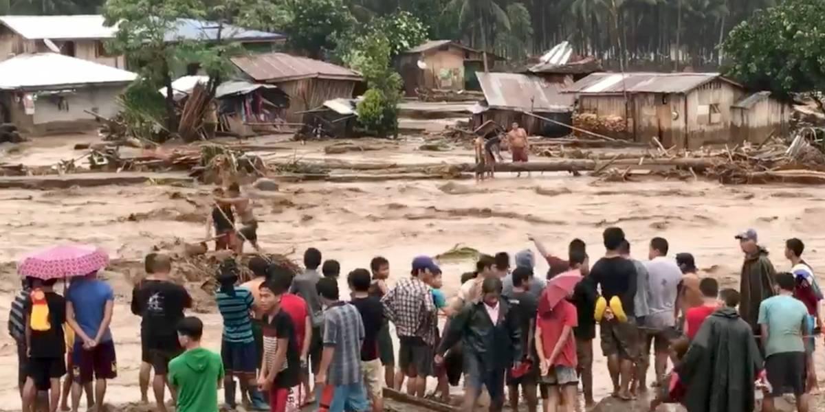 Número de mortos em tempestade nas Filipinas passa de 130