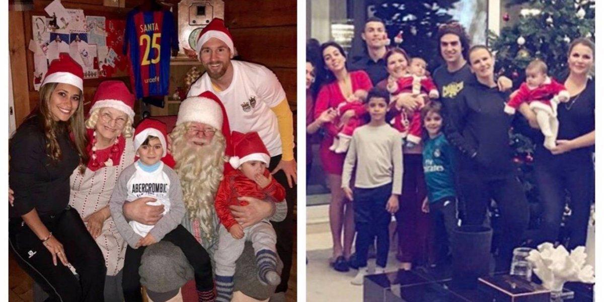 Así festejan la Navidad Lionel Messi y Cristiano Ronaldo