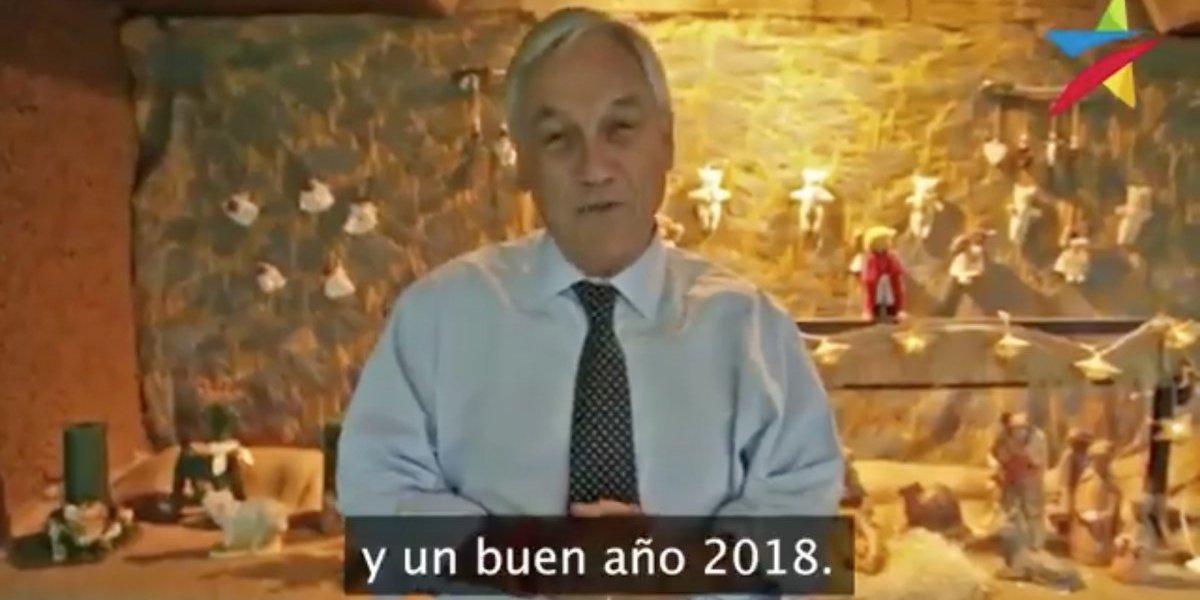 Presidente electo Sebastián Piñera se adelanta a Bachelet y envía mensaje de Navidad por Twitter