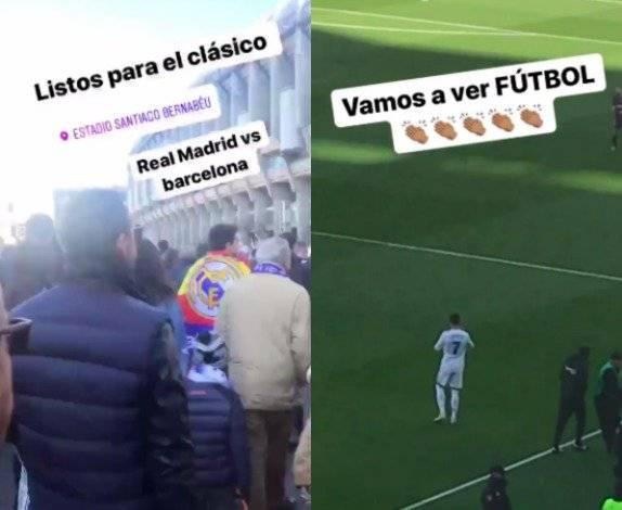 Marco Fabián asiste al Clásico Español