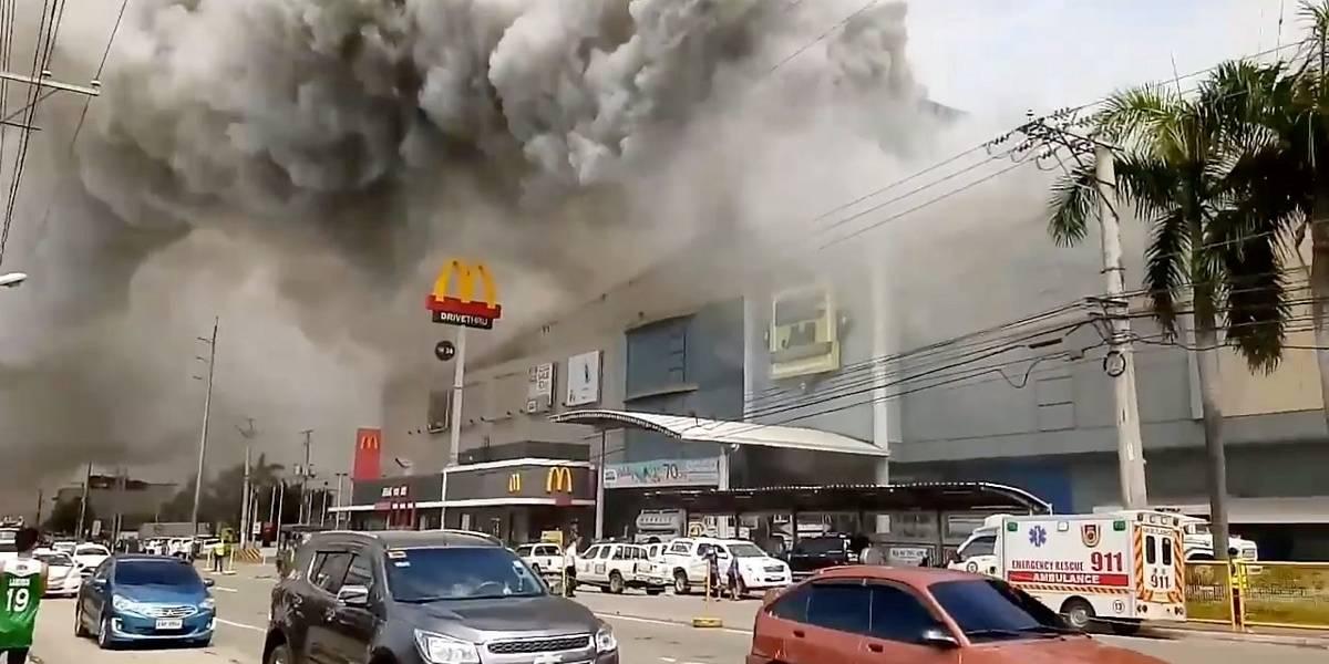 Incêndio em shopping e tempestade deixam mortos nas Filipinas