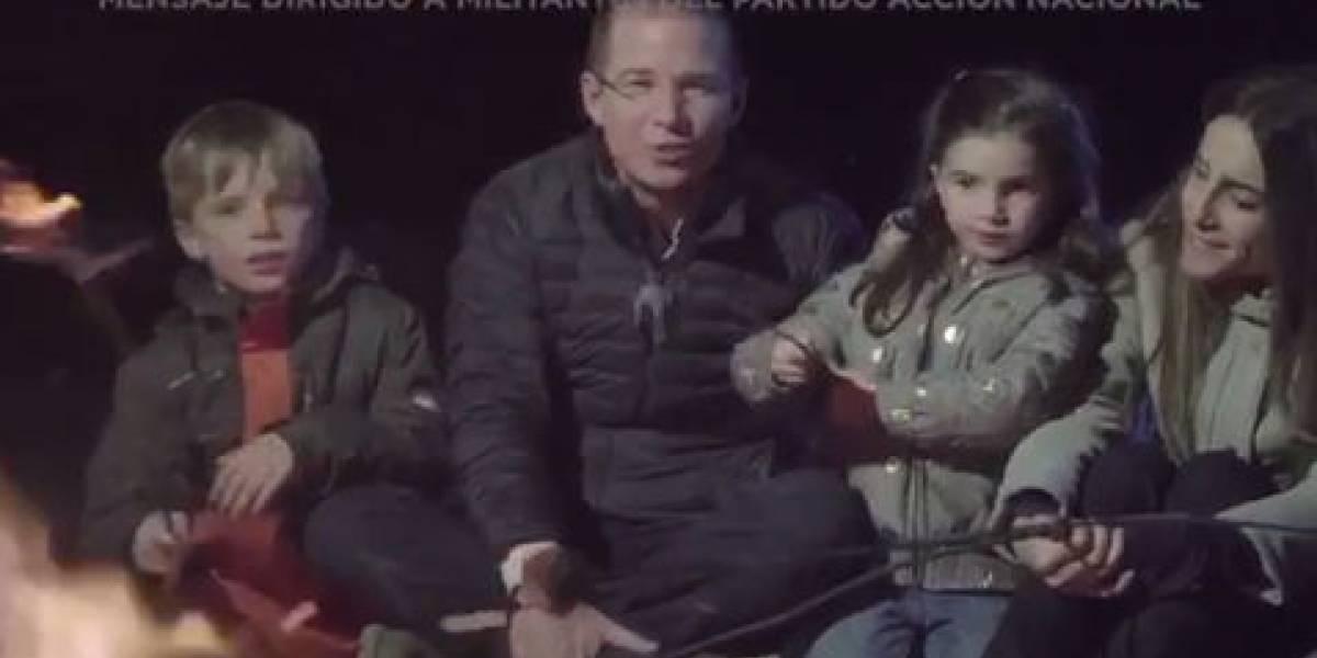 Ricardo Anaya y su familia envían mensaje navideño a los panistas